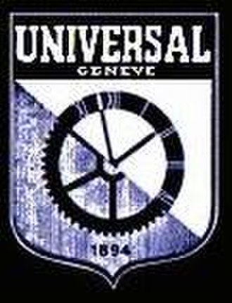 Universal Genève - Universal Genève logo circa 1937, designed by Ulysse Perret's son, Raoul