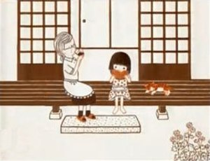 Toilet no Kamisama - A scene from the Daisuke Hashimoto/Mari Torigoe animated version