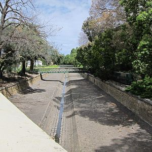 Rosalind Park - View of Bendigo Creek as it runs through Rosalind Park