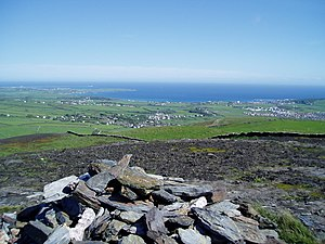 Bradda Hill - View from Bradda Hill, looking towards Port St. Mary and Castletown