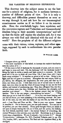 william james  wikipedia philosophy of religionedit