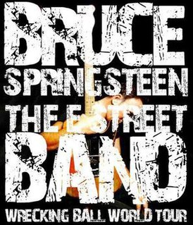 Wrecking Ball World Tour concert tour by Bruce Springsteen and the E Street Band
