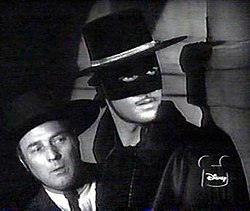 "Guy Williams as ""Zorro"""