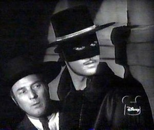 Zorro (1957 TV series) - Bernardo (Gene Sheldon) and Zorro (Guy Williams)