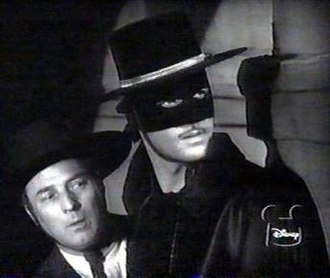 Zorro - Zorro (Guy Williams) and Bernardo (Gene Sheldon) in Walt Disney's 1957–1959 Zorro television series