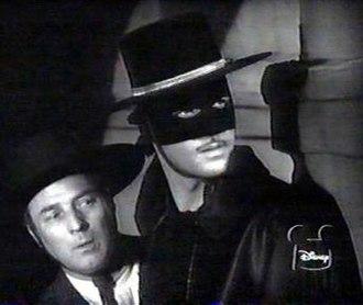 Zorro - Zorro (Guy Williams) and Bernardo (Gene Sheldon) in Walt Disney's 1950s Zorro television series