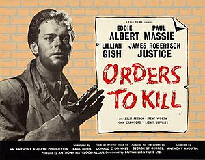 Orders to Kill - British theatrical poster