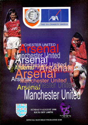 1998 FA Charity Shield - The match programme cover