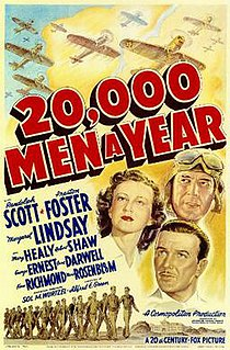<i>20,000 Men a Year</i> 1939 film by Alfred E. Green