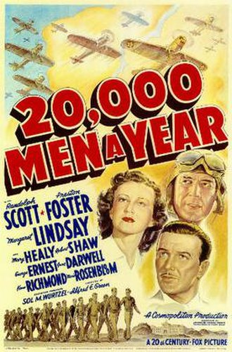 20,000 Men a Year - Theatrical release poster