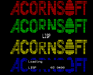 Acornsoft - Loading screen for LISP