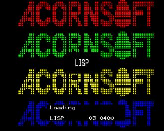 Acornsoft - Loading screen for LISP