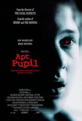 Apt Pupil (film) - Video release poster