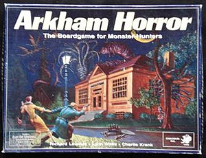 Arkham Horror - The box cover of the 1987 edition of Arkham Horror
