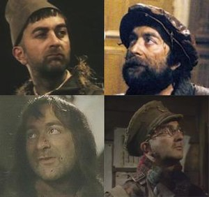 The four major incarnations of Baldrick