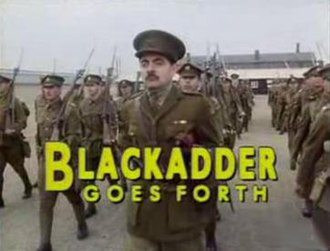 Blackadder Goes Forth - Title screen of Blackadder Goes Forth featuring Rowan Atkinson