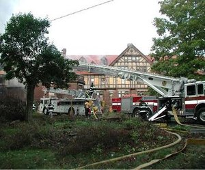 Briarcliff Lodge - Briarcliff Manor and Pleasantville Fire Departments fighting the lodge fire