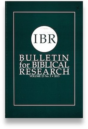 Bulletin for Biblical Research - Image: Bulletin for Biblical Research
