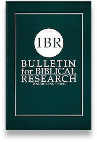 Bulletin for Biblical Research - Image: Bulletin for Biblical Research