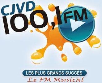 CJVD-FM - Image: CJVD 100,1FM logo