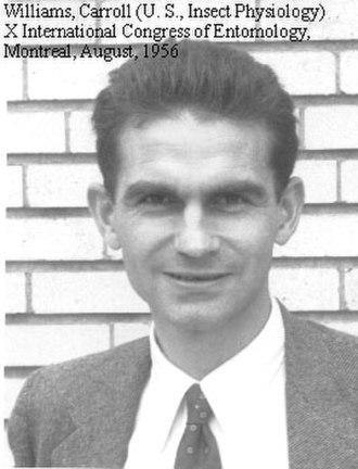 Carroll Williams - Image: Carroll Williams at the Xth International Congress of Entomology (Montreal 1956)
