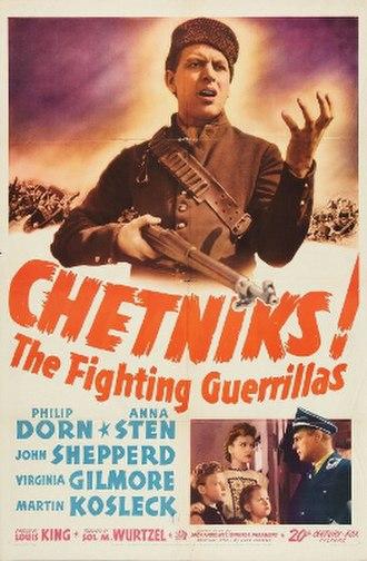 Chetniks! The Fighting Guerrillas - 1943 20th Century Fox film poster.
