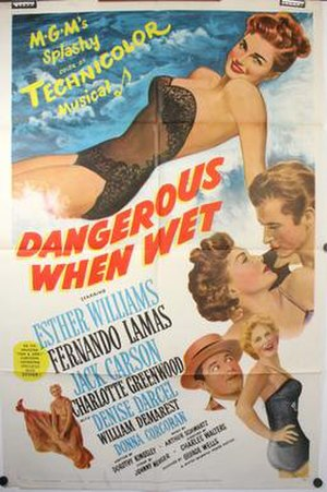 Dangerous When Wet - Theatrical release poster