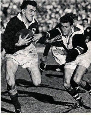 Newtown Jets - Dick Poole in action 1954