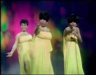 "Expo 67 - The Supremes (L to R: Florence Ballard, Mary Wilson, and Diana Ross) performing ""The Happening"", broadcast live from Expo 67 on The Ed Sullivan Show on Sunday, May 7, 1967"