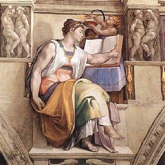 Sibylline Books - Michelangelo's rendering of the Erythraean Sibyl