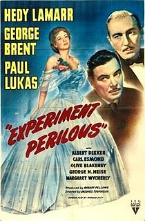 <i>Experiment Perilous</i> 1944 film by Jacques Tourneur