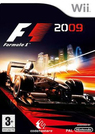 F1 2009 (video game) - F1 2009 cover art (PAL Nintendo Wii version)