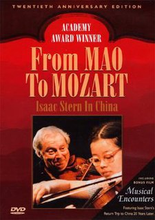 <i>From Mao to Mozart: Isaac Stern in China</i> 1979 American film