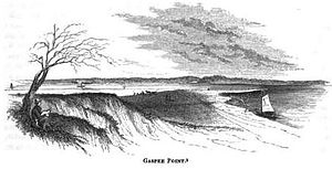 Gaspee Point - Gaspee Point in 1852