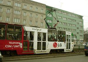 A typical Gdańsk tram.