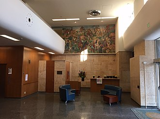 Golden State Mutual Life Insurance Building (1949) - Image: Golden State Building 1949 Lobby