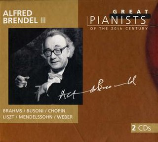 <i>Great Pianists of the 20th Century – Alfred Brendel III</i> 1999 compilation album by Alfred Brendel