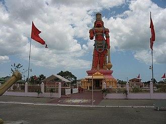 Religion in Trinidad and Tobago - The Hanuman Temple at Carapichaima.