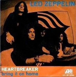 Heartbreaker (Led Zeppelin song) - Image: Heartbreaker single cover