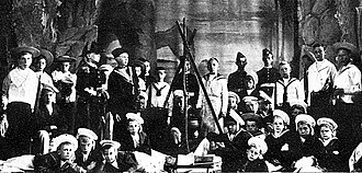 Hamilton Clarke - 1898 production of Clarke's operetta for boys, Hornpipe Harry
