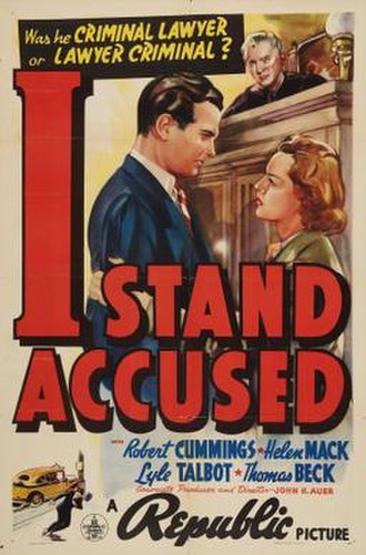 I Stand Accused - Theatrical release poster