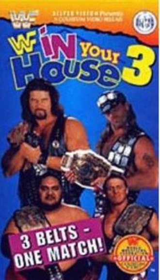 In Your House 3 - VHS cover featuring Yokozuna, Diesel, Shawn Michaels, and Owen Hart