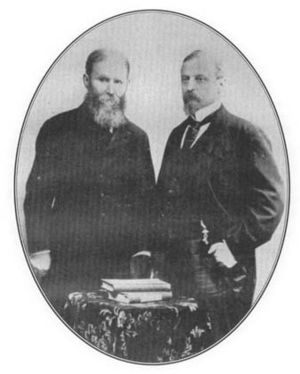 Jeremiah Curtin - Curtin (left) with Henryk Sienkiewicz, author of Quo Vadis