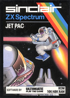 <i>Jetpac</i> 1983 arcade-style shooter video game