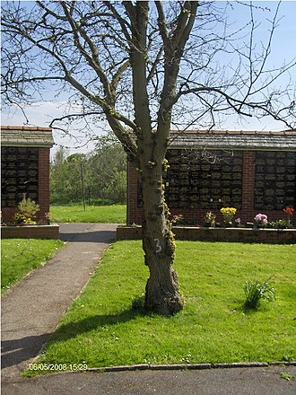Carleton Crematorium and Cemetery - Image: Jimmy Clitheroe's memorial tree at the Carleton Crematorium and Cemetery