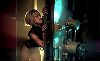 The Way You Love Me (Keri Hilson song) - A scantily dressed Hilson shown licking a metal door, one of the provocative scenes of the music video.