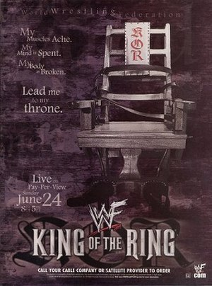 King of the Ring (2001) - Promotional poster featuring an electric chair