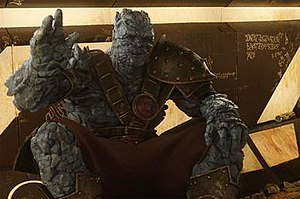 Korg (comics) - Korg in the 2017 film Thor: Ragnarok, played by the director Taika Waititi