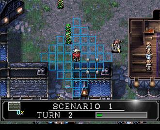 Langrisser IV - Sega Saturn screenshot of Langrisser IV - Overhead