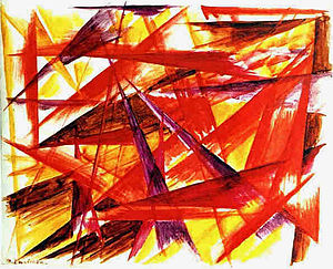Russian avant-garde - Rayonism. Mikhail Larionov, The Red Rayonism, 1913